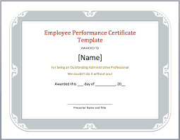 free download employee performance certificate template example