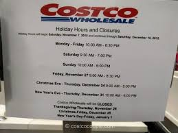 costco 2015 hours