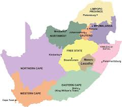 Africas Map by South African Provinces Jw Produce