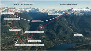 World Mountain Ranges Map by Open Air Chairlift Rides Whistler Blackcomb