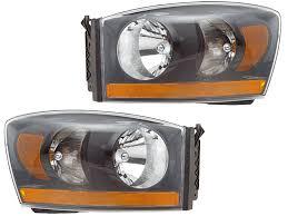 2006 dodge ram 2500 headlight bulb 2006 dodge ram 1500 2500 3500 black headlights set w xenons
