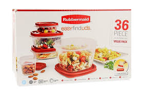 Red Canisters For Kitchen Amazon Com Rubbermaid 50 Piece Easy Find Lid Food Storage Set