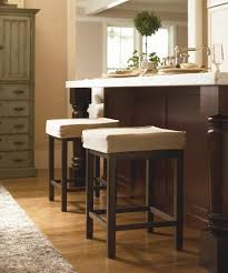 Kitchen Island Tables With Stools Bar Stools Backless White Fabric Cushioned Bar Stools Combined