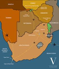 Map Of Southern Africa by Best Of Southern Africa Volant Travel