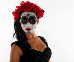 sugar skull and flowers stock photo image of 32276898