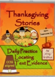 daily thanksgiving passages comprehension practice with locating
