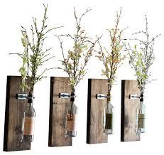 Bamboo Wall Vase Wine Bottle Wall Vase Industrial Vases By Smokestack Studios