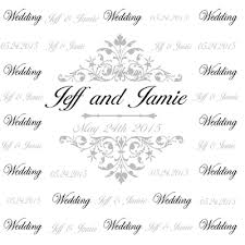 wedding backdrop monogram custom step and repeat banner design for wedding grey monogram