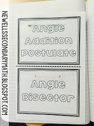free angle addition postulate and angle bisector foldable for the