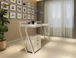 White Gloss Office Furniture by Modern White Gloss Office Desk Sj48 Desks