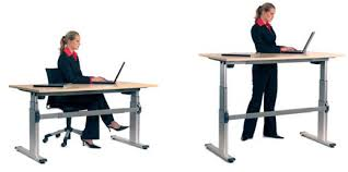 Sit To Stand Desk Sit Or Stand Desk A Telescopic Electric Desk That Operates With