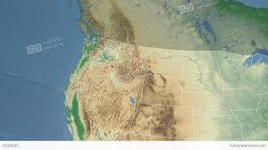 Wa State Map Washington State Usa Extruded Physical Map Stock Animation
