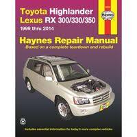 toyota highlander 2010 manual 2010 toyota highlander repair manual technical book