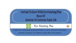 online specials eco painting plus