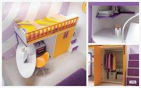 Chambre Ado Fille Avec Lit Mezzanine by Lit Mezzanine Armoire Bureau Lit Mezzanine Avec Bureau Sur Iziva