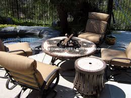 Patio Table With Firepit Firepits By Surrounding Elements Backyard Patio Furniture