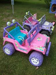 pink toy jeep find more price lowered for fast swap pink barbie jeep like new