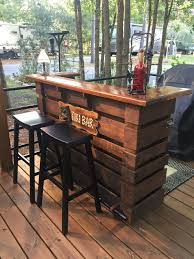 Patio Furniture Made From Wood Pallets by Pallet Bar Attention To Detail The Most Incredible Pallet Bar