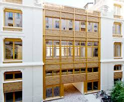 wooden facade inhabitat green design innovation architecture