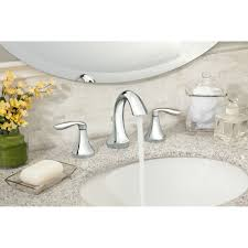 bathroom moen rizon double handle widespread bathroom faucet with