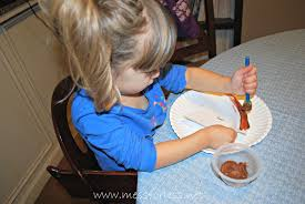 scented writing paper scented pumpkin pie craft mess for less they can paint the crust part of the paper plate brown you can put another plate under the pie so paint doesn t get on the table