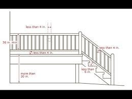 Stair Handrail Requirements Deck Stair Railing Spacing Deck Stair Rail Height Standard Youtube