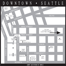 Seattle Street Map by Downtown Seattle Walking Map Diagram Get Free Images About World