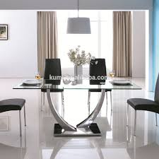 Glass Dining Table Glass Dining Table Suppliers And Manufacturers - Dining room table glass