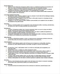 Sample Resume For Management Position by 6 Example Resume Objective Free Sample Example Format Download