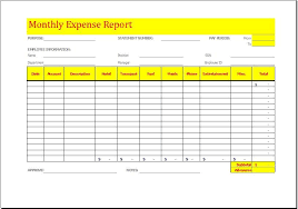 fuel report template monthly expense report template at http www