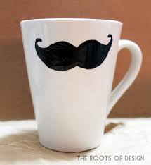 Creative Mug Designs The Roots Of Design Diy Mustache Cup