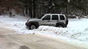 jeep liberty in snow youtube