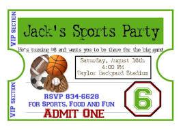 Backyard Birthday Party Invitations Sports Party Invitations Marialonghi Com