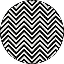 Round Throw Rugs by Floors Rugs Black And White Chevron Round Area Rugs For 7 Office