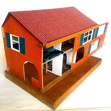 vintage handmade wooden dolls house with furniture by picklekids