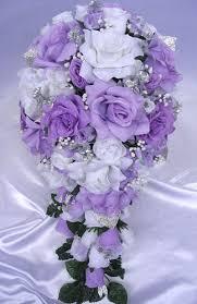 wedding flowers lavender wedding bouquet bridal silk flowers lavender silver white