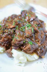 slow cooker sirloin beef tips in mushroom gravy recipe gravy