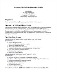 Resume Examples For Pharmacy Technician by Pharmacy Technician Resume Objective
