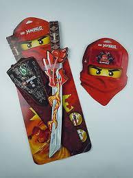 new lego ninjago sword and bandana kai red ninja halloween costume