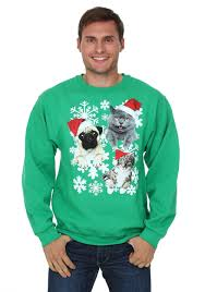 pug sweater santa kitties pug sweater