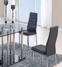 global furniture dining room sets global furniture usa 368dt dining set vinyl black metal legs