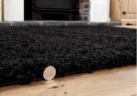 new small high quality 5cm thick black shaggy rug 80x150 cm area