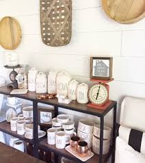 rae dunn clay collection vintage scale shiplap tobacco basket