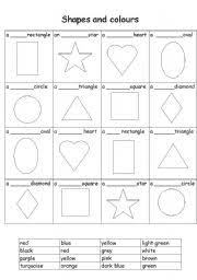 english teaching worksheets shapes