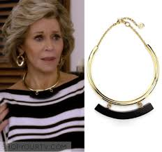 black collar necklace fashion images Grace and frankie season 2 episode 12 grace 39 s gold black collar png