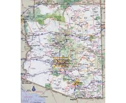 Map Of California And Arizona by Maps Of Arizona State Collection Of Detailed Maps Of Arizona