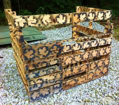 easy diy pallet deer u0026 turkey blind heartland lodge