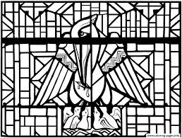 stained glass pelican church arthon en retz france 20th