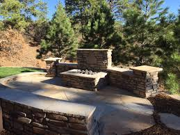 Fire Pits Denver by Square Fire Pit With Stone Wall Backing Landscape Connection