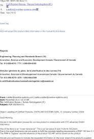 bureau gouvernement du canada denr1 in ear transceiver id label location info label location
